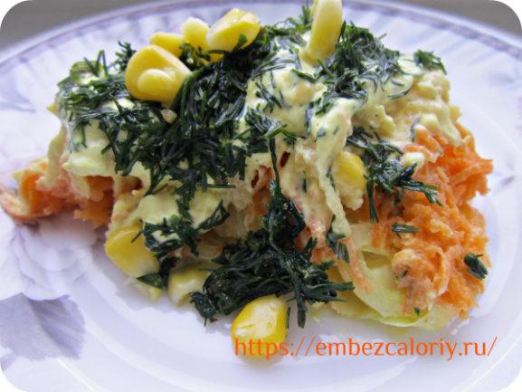 Вегетарианские салаты салат с кукурузой