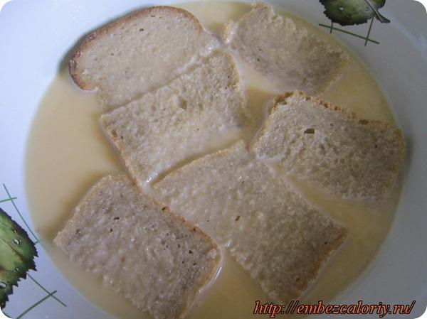 Пропитываем хлеб яичной смесью