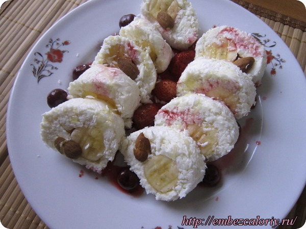 Ведический десерт Роллы банановые