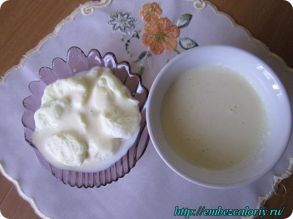 Подаем десерт охлажденным с соусом