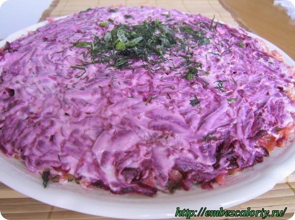 салат русский лес рецепт с фото
