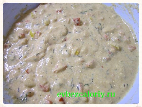 Оставляем тесто на 15 – 20 минут для набухания