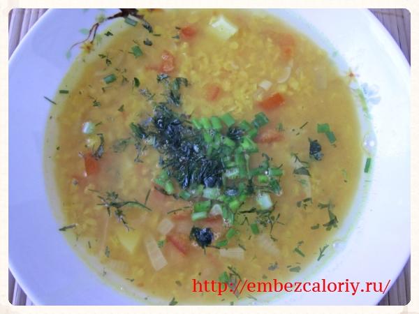 Суп из красной чечевицы готов!