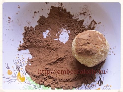Обваливаем в какао