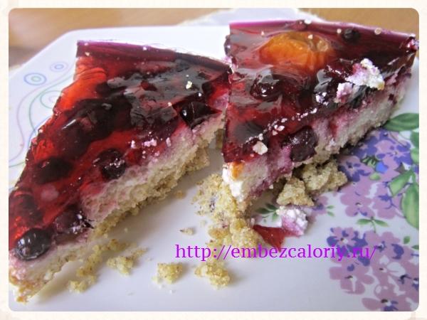 Ягодно - желейный пирог
