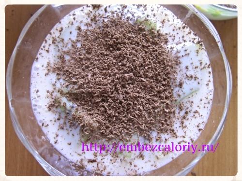 крем посыпаем тертым шоколадом