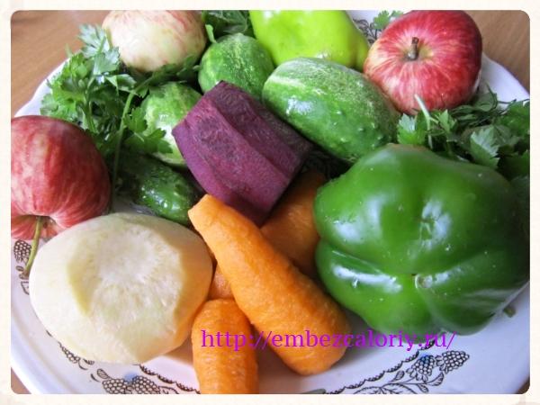 Овощи и яблоки