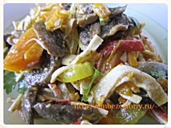 Крабово – грибной салат