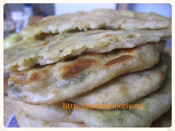 хачапурики с сыром и зеленью