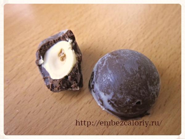Конфеты из горького шоколада
