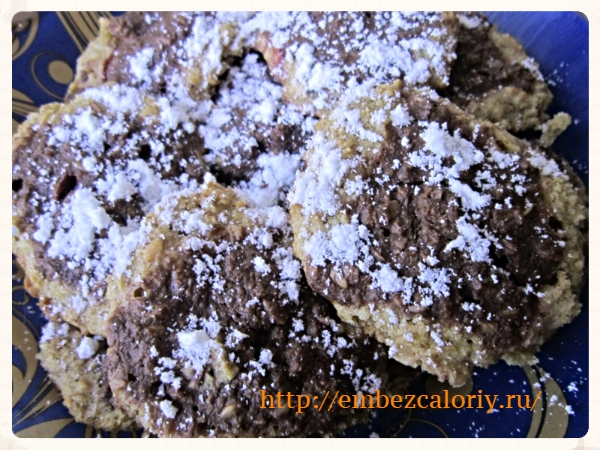 Овсяное печенье с ягодами без муки