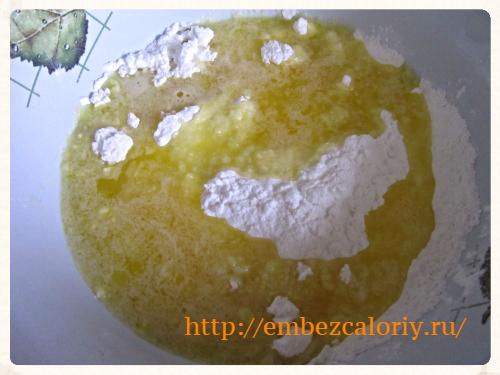 сливочное масло добавляем в крахмал