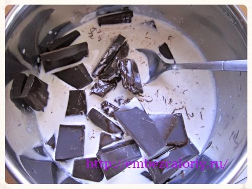 расплавляем шоколад