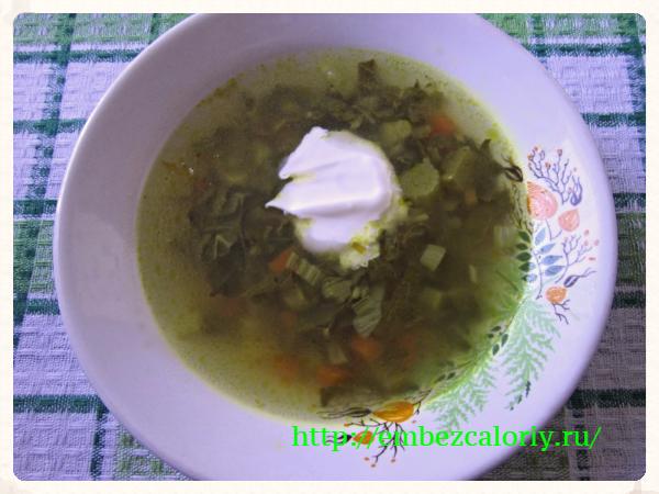 Витаминный суп из ревеня