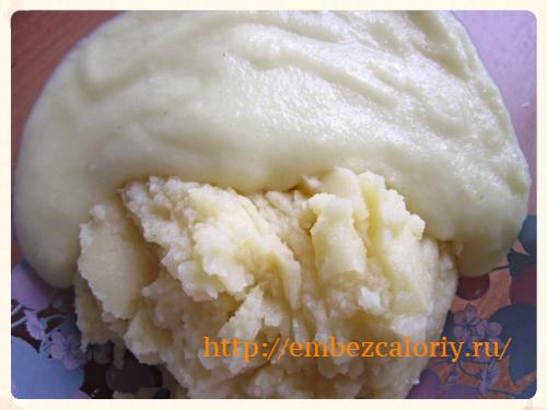 картофельное пюре с манной кашей