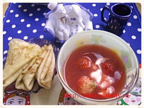 Суп – пюре из клубники