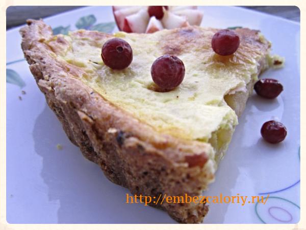 Яблочно – луковый пирог