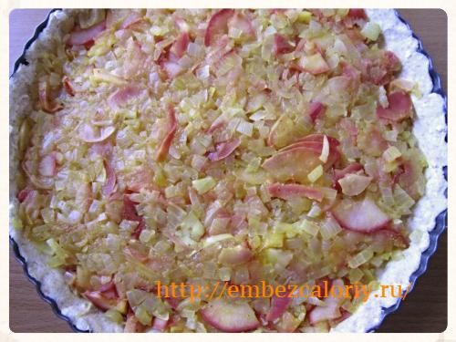 яблочно – луковую начинку