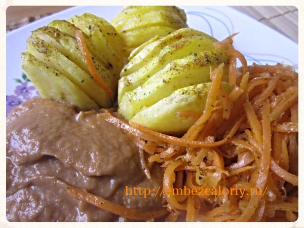 Картофель – «гармошка» с сыром