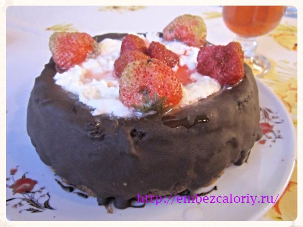 """Фитнес-торт """"Горький шоколад"""""""