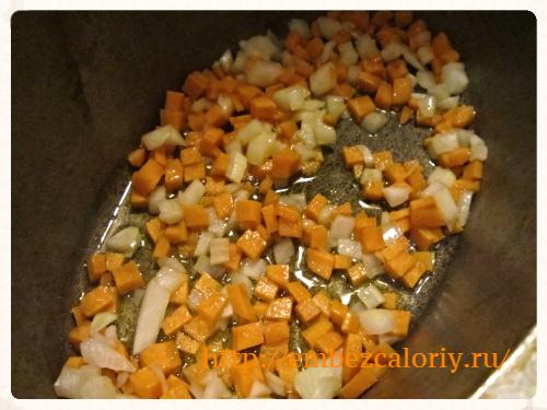 лук и морковь томим в масле