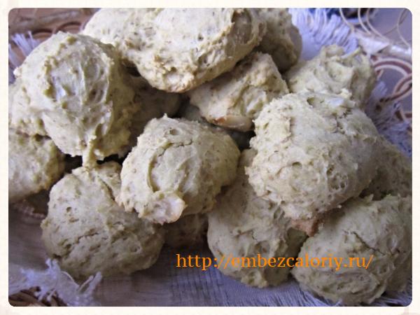 Печенье сметанное с миндалем