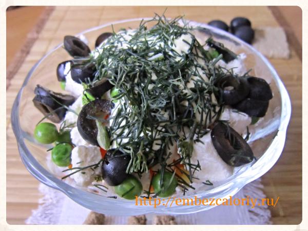 Салат из панира вегетарианский
