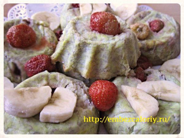 Банановые кексы без муки, масла и сахара