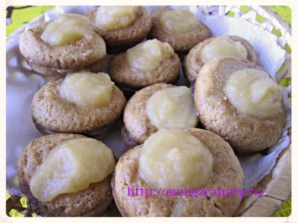 Ванильное печенье с яблочным пюре
