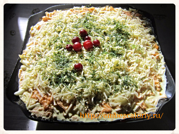 Вкусный салат на скорую руку