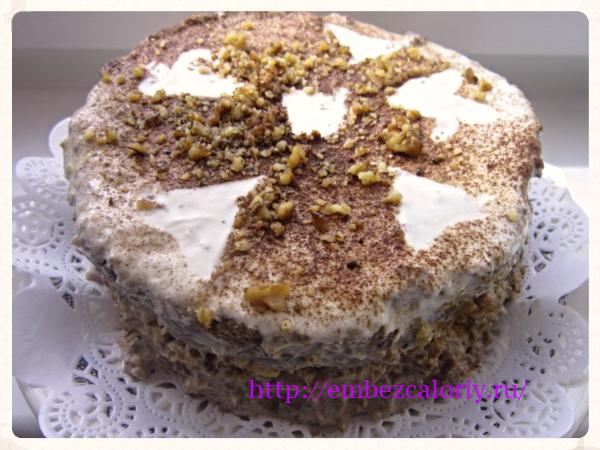 Сметанный торт с пониженными калориями
