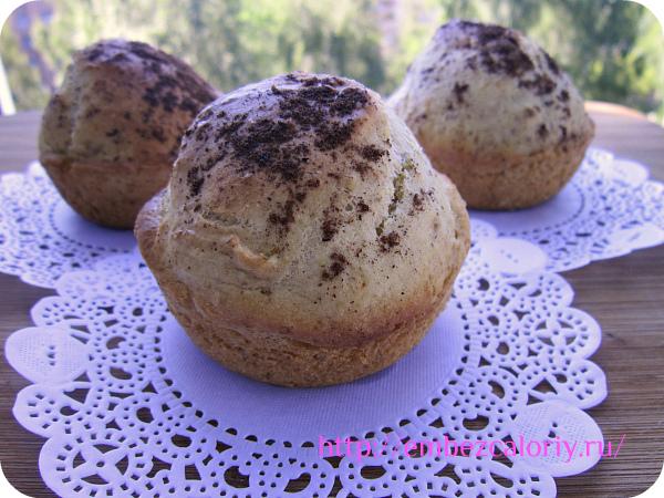 Бездрожжевые булочки с малиной