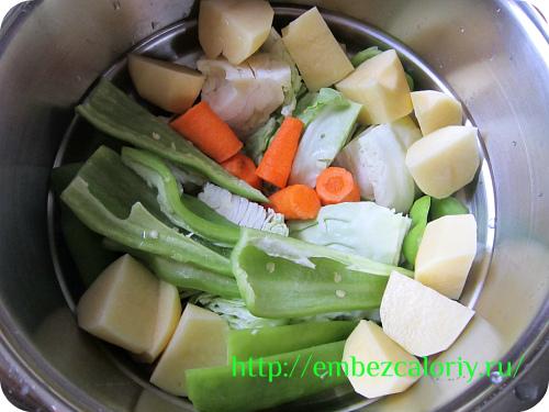 приготовление овощей на пару