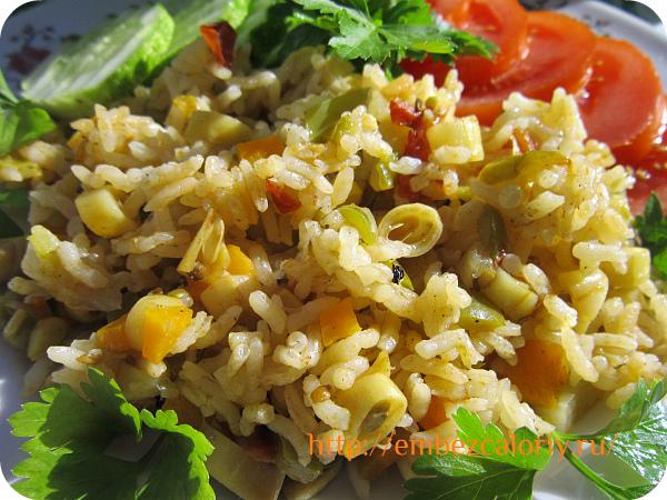 Плов вегетарианский со спаржевой фасолью