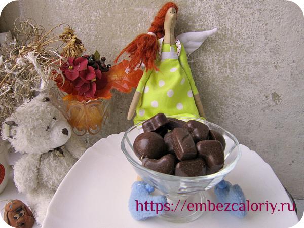 Домашние конфеты из молочного натурального шоколада