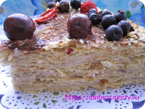 Торт на скорую руку (новогодний пошаговый рецепт с фото)