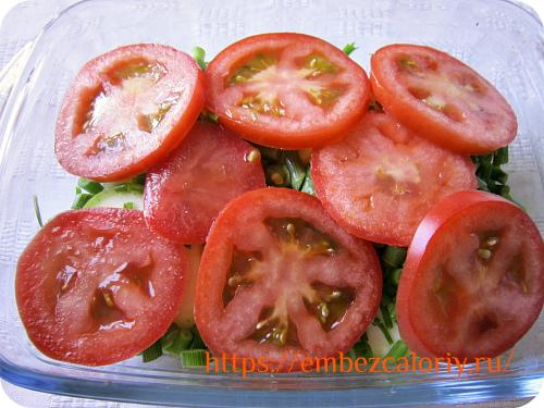 И кружочки помидор