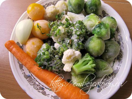 Овощи размораживаем