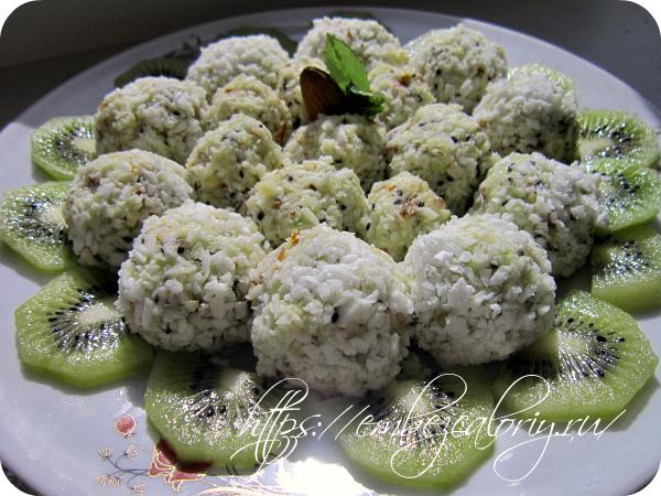 Десерт из киви
