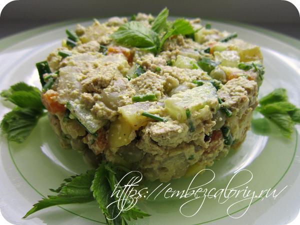 Популярный салат по-вегански