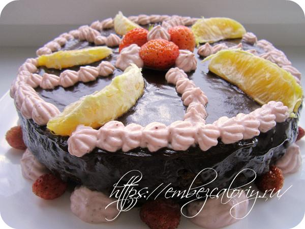 Необычный шоколадно-шоколадный торт