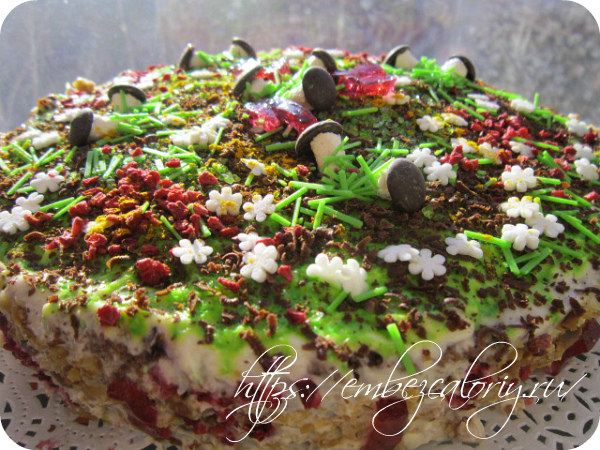 Торт Грибная полянка