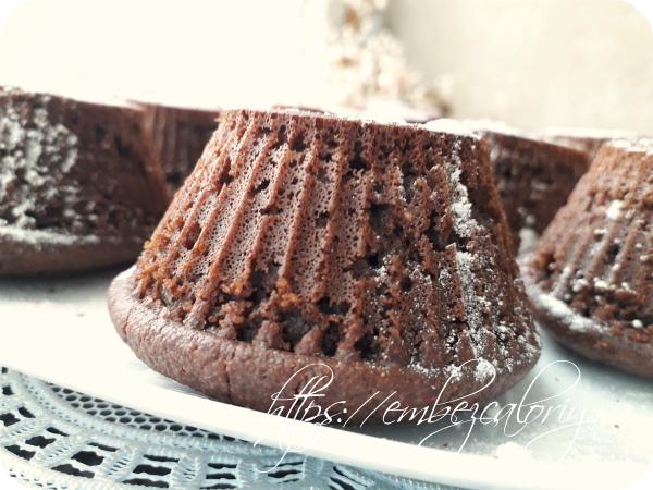 Шоколадные кексы - бомбочки с начинкой