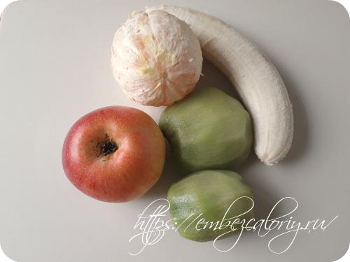 Подготавливаем наши фрукты