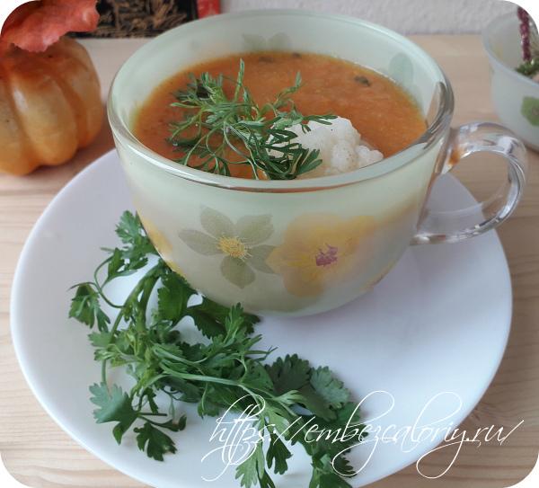 Суп пюре из моркови. Детокс