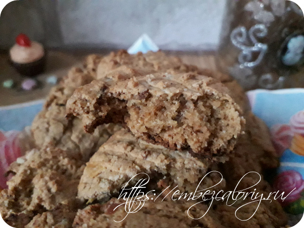 Питательное и полезное Гречнево-овсяное печенье готово к чаепитию!
