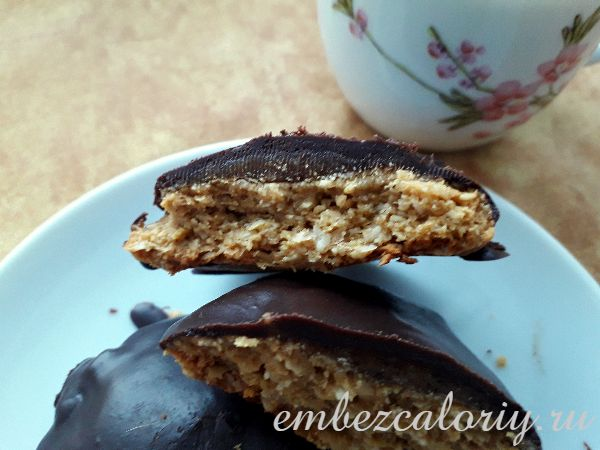 Овсяно - имбирное печенье в натуральном шоколаде готово!